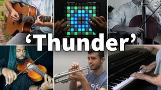 Who Played It Better: Thunder (Violin, Guitar, Cello, Piano, Launchpad, Trumpet)