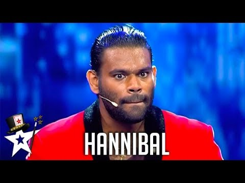 Hannibal the Magic Warrior Intimidates Judges on Sri Lanka's Got Talent | Got Talent Global
