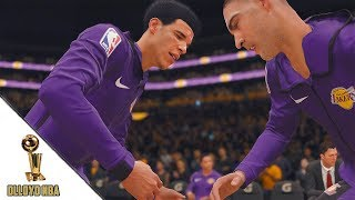 NBA Live 18 Lonzo Ball vs De