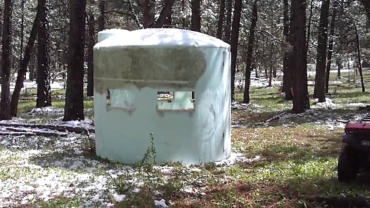 Homemade Portable Hunting Blind Crazy Homemade