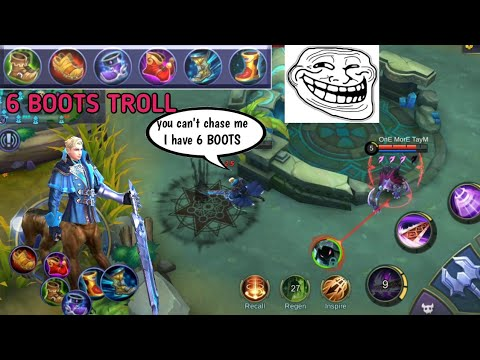 6 BOOTS BUILD | TROLL BUILD | MOBILE LEGENDS FUNNY GAME