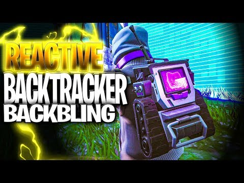 STRATUS Skin AND Backbling Being REACTIVE (What Does The BACKTRACKER Backbling Do In Fortnite)