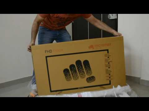 Micromax 100 Cm (40 Inch) Full HD LED Television Unboxing