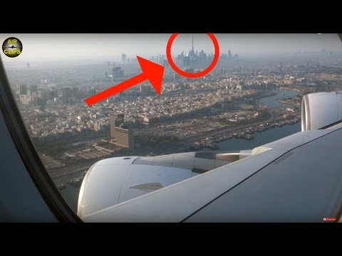 Qantas A380 passes Burj Khalifa: World's TALLEST building seen from LARGEST pax jet!!! AirClips]