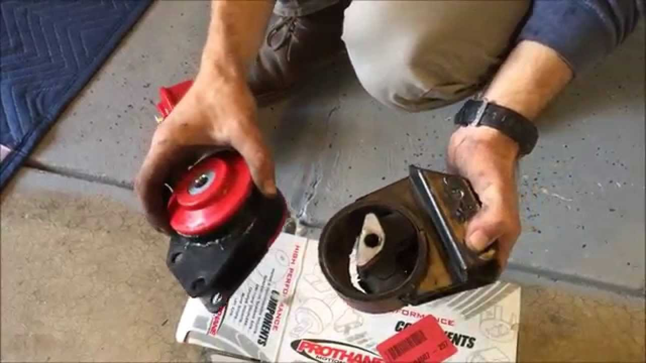 Polyurethane motor mount bushing install youtube for How to make polyurethane motor mounts