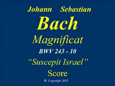 JS Bach Magnificat BWV243 -10 Suscepit Israel - Score