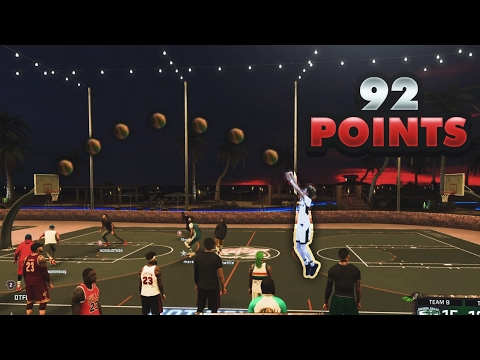 LAMELO BALL INSANE 92 POINTS AT THE PARK CHALLENGE - NBA 2K17 😱😱🔥🔥
