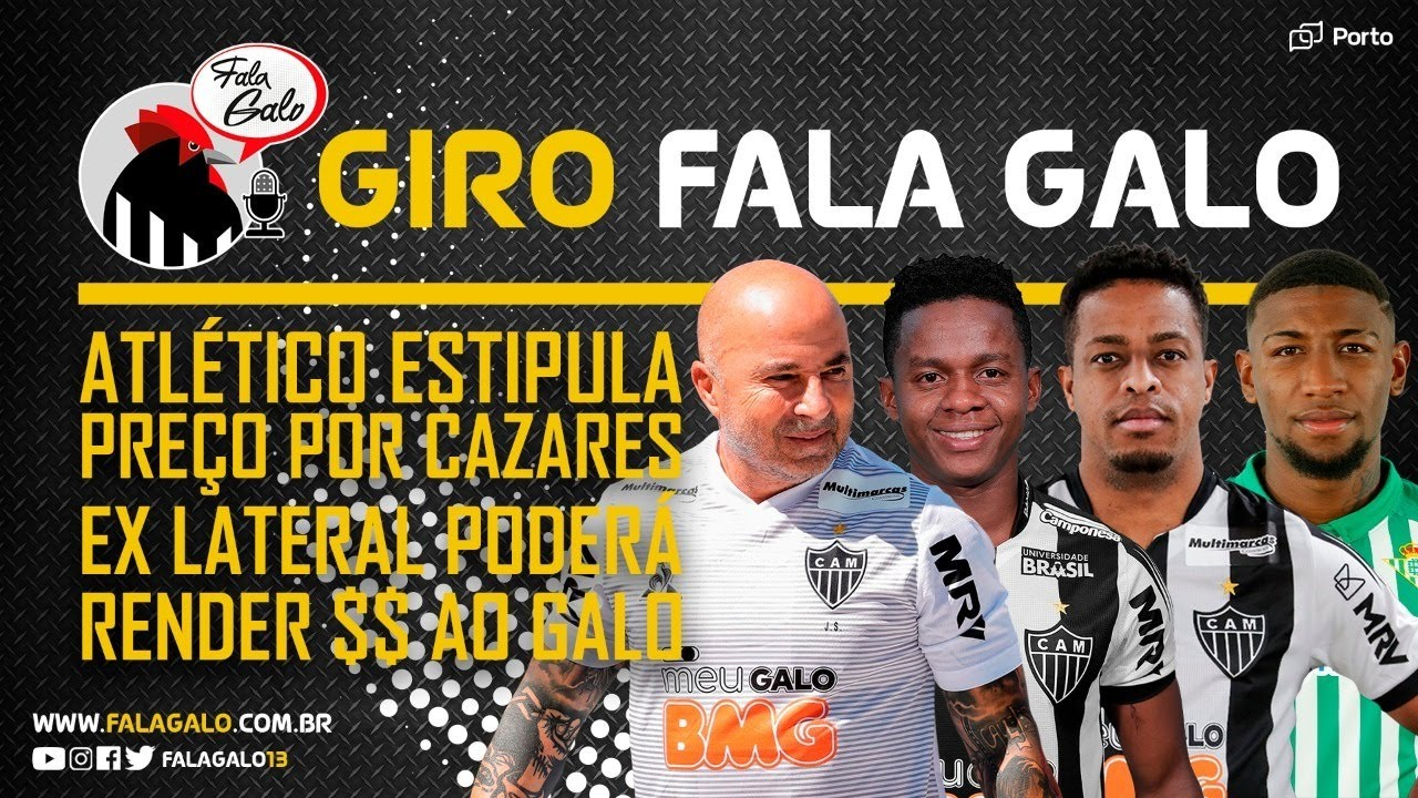 🏆👀 O ATLÉTICO BRIGA PELO BRASILEIRÃO? | GALO COLOCA PREÇO NO CAZARES | EMERSON PODE RENDER $