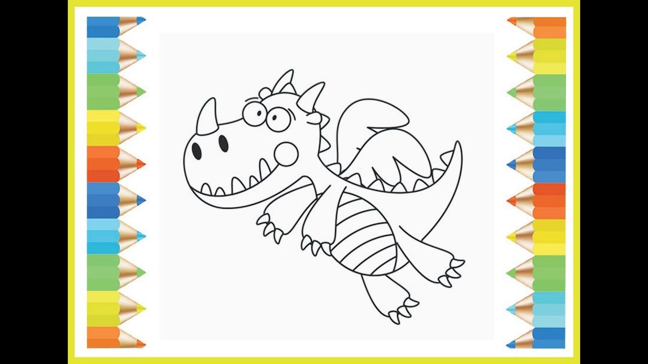 Gambar Naga Untuk Kamu Yang Suka Menggambar Dan Mewarnai Kartun Lucu