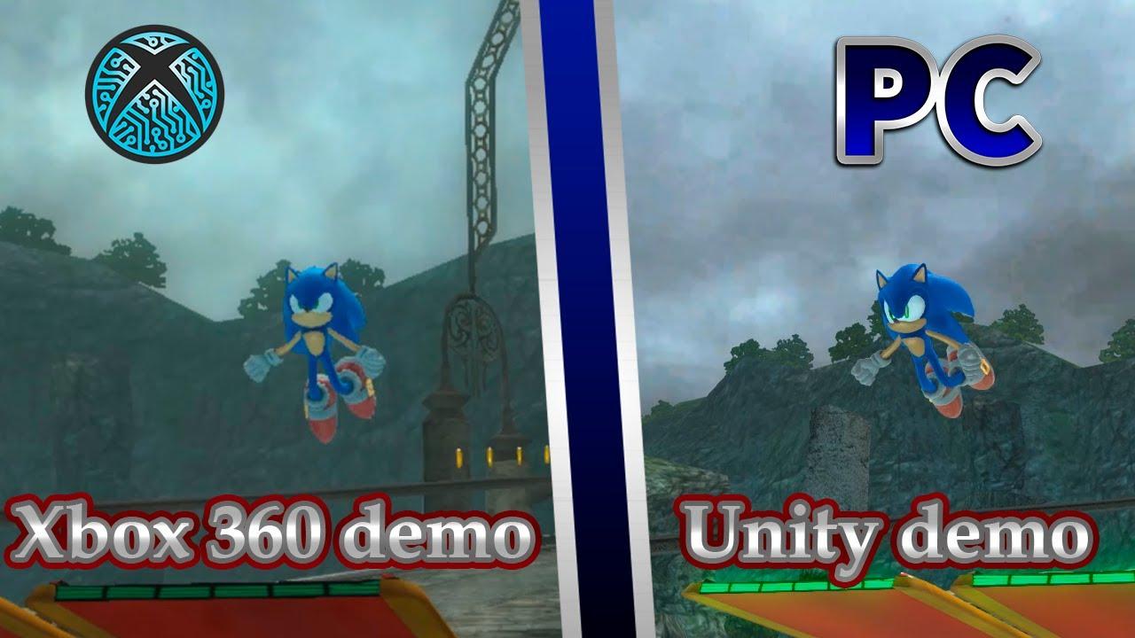 Demo vs Demo | Xenia emulator and Unity remaster - Sonic 06: Kingdom Valley