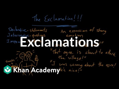 Exclamations | Syntax | Khan Academy