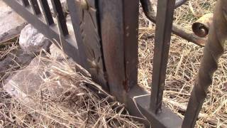 видео кованые ворота и калитки