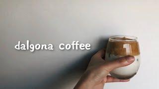 ダルゴナコーヒー作ってみた dalgona coffee
