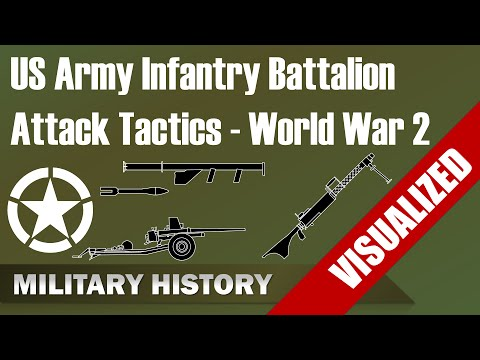 [US Army] Infantry Battalion Structure & Attack Tactics World War 2 (1944)