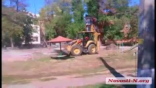 """Видео """"Новости-N"""": Строительная техника на детской площадке"""