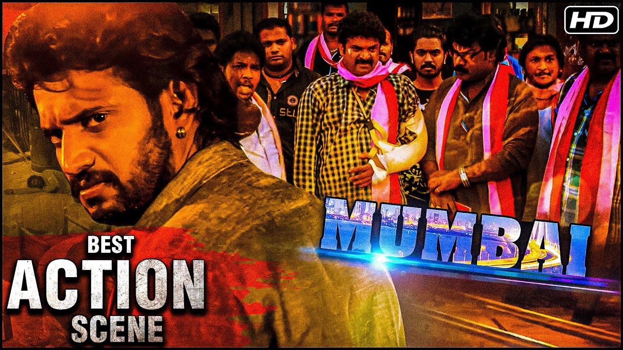Best Thriller Action Scene Of Mumbai Movie | Darling Krishna Action Scene |Mumbai Hindi Dubbed Movie