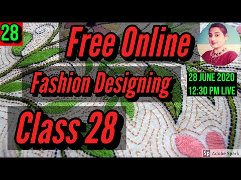 Free Fashion Designing Online Courses With Certificate Class 30 Youtube