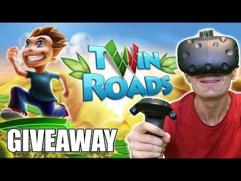 Twin Roads VR Gameplay on HTC Vive & New Giveaway | Great 3D Platformer game in Virtual Reality