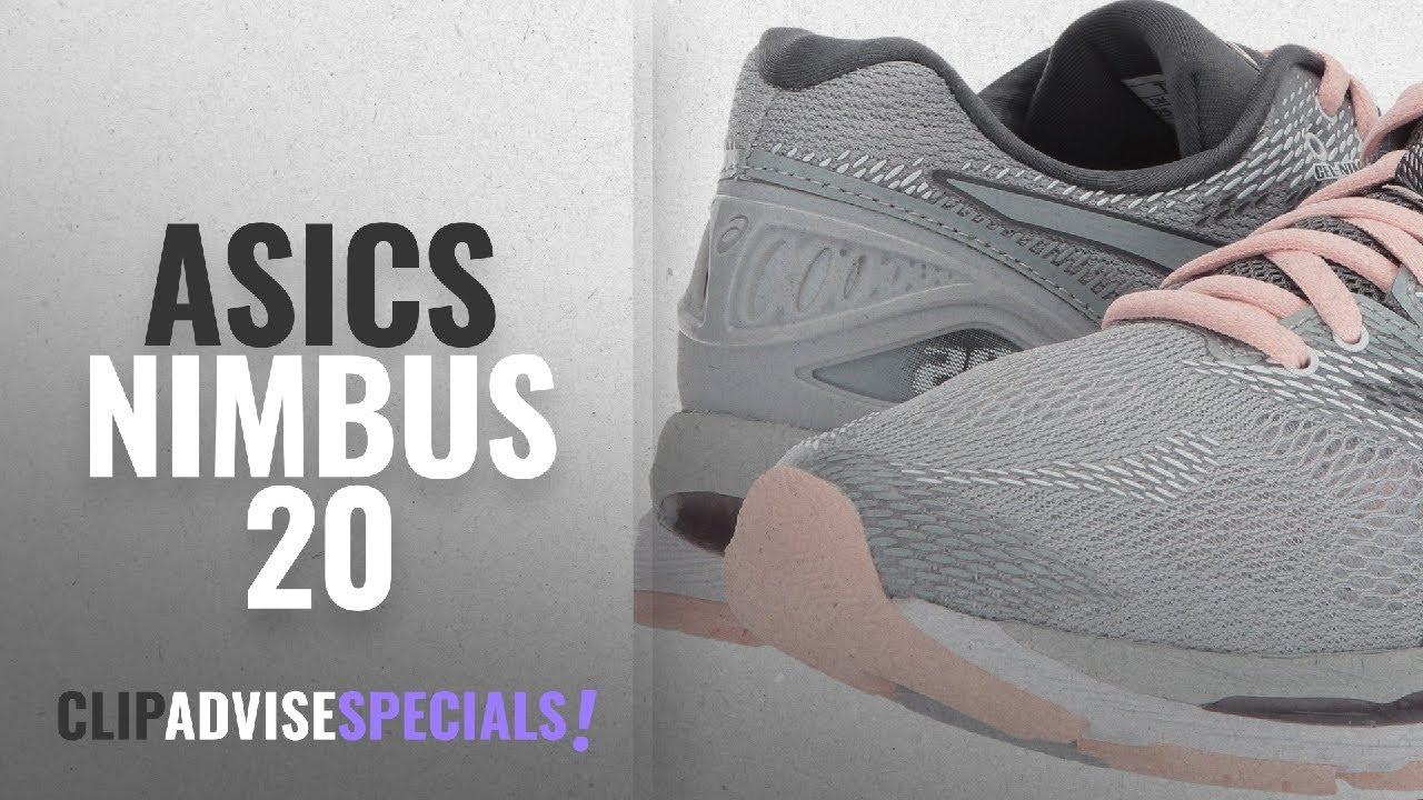 ee30519bbf5 Top 5 Asics Nimbus 20 [2018]: ASICS Women's Gel Nimbus 20 Running Shoes,  Mid Grey/Mid Grey/Seashell