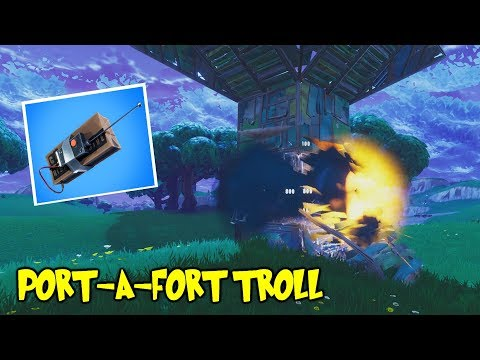 FORTNITE TRAP OF THE DAY: Port-A-Fort C4 TRAP!