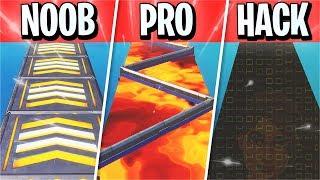 NOOB vs PRO curso HACKER parkour! (Creative Fortnite)