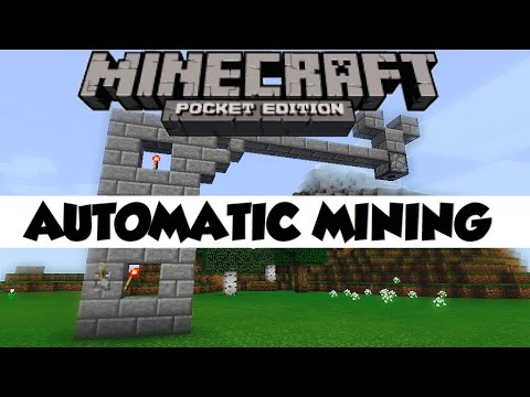 ✔️Minecraft PE  | Automatic Mining Machine! - Redstone Tutorial