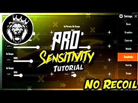 Download Best Sensitivity Settings + No Recoil in Pubg Mobile