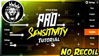 Best Sensitivity Settings + No Recoil in Pubg Mobile