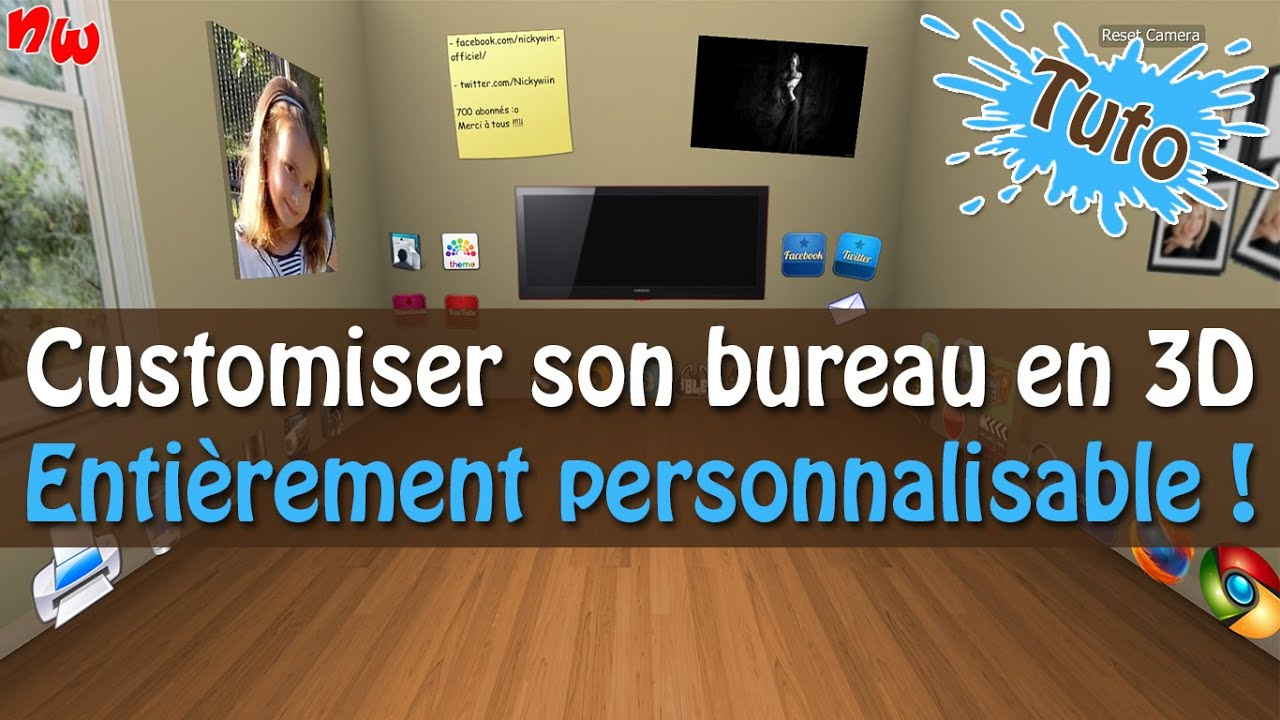 Tuto customiser et personnaliser son bureau en 3d bumptop youtube - Personnaliser son bureau windows 7 ...