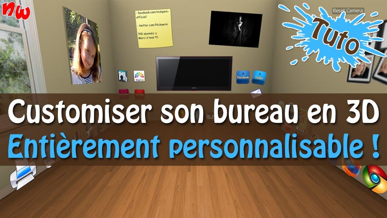 Tuto customiser et personnaliser son bureau en 3d for Bureau virtuel windows 7
