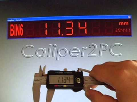 Caliper with 4 buttons Digital Read Out BIN6