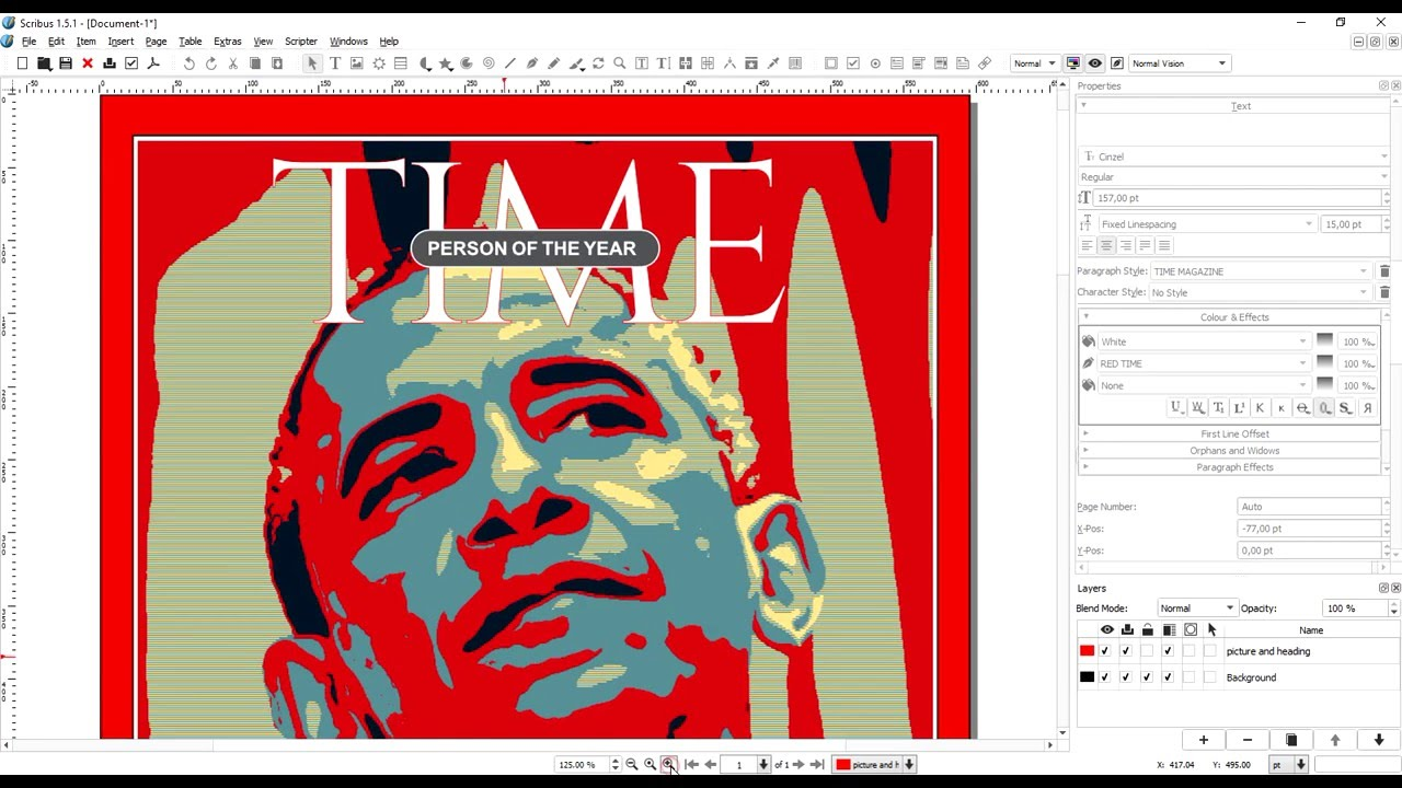 Time Magazine Cover Scribus 1 5 1 Template