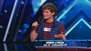 America's Got Talent 2015 S10E01 Drew Lynch Must See Stand Up Comedian