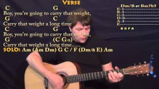 Golden Slumbers/Carry That Weight/The End (Beatles) Guitar Cover Lesson with Chords/Lyrics