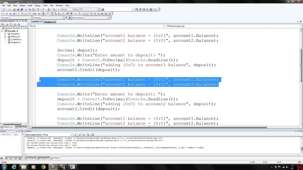C# Programming 6 - Decimal and currency formatting