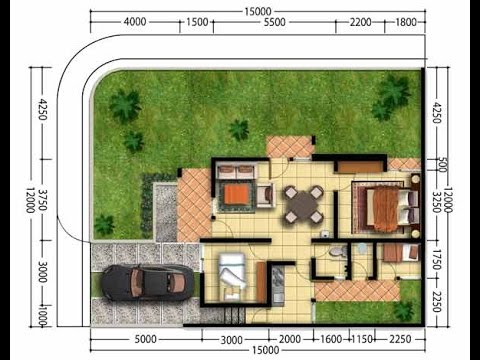 Denah Rumah Minimalis Modern 1 Lantai 3 Kamar Tidur Denah Rumah