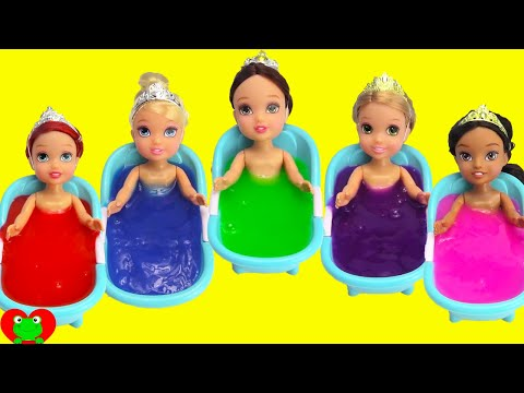 Disney Princess Slime Bath Surprises LEARN Colors
