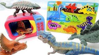 Learn Dinosaurs With Wooden Puzzle | Jurassic World2 Fallen Kingdom Schleich Transformer Real Dino