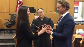 Церемония заключения брака в США