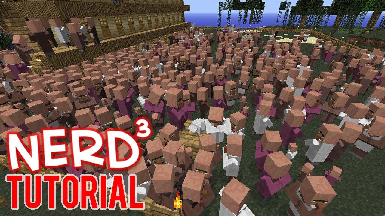 Minecraft Tutorial: Infinite Villager Spawner and Emerald Farm