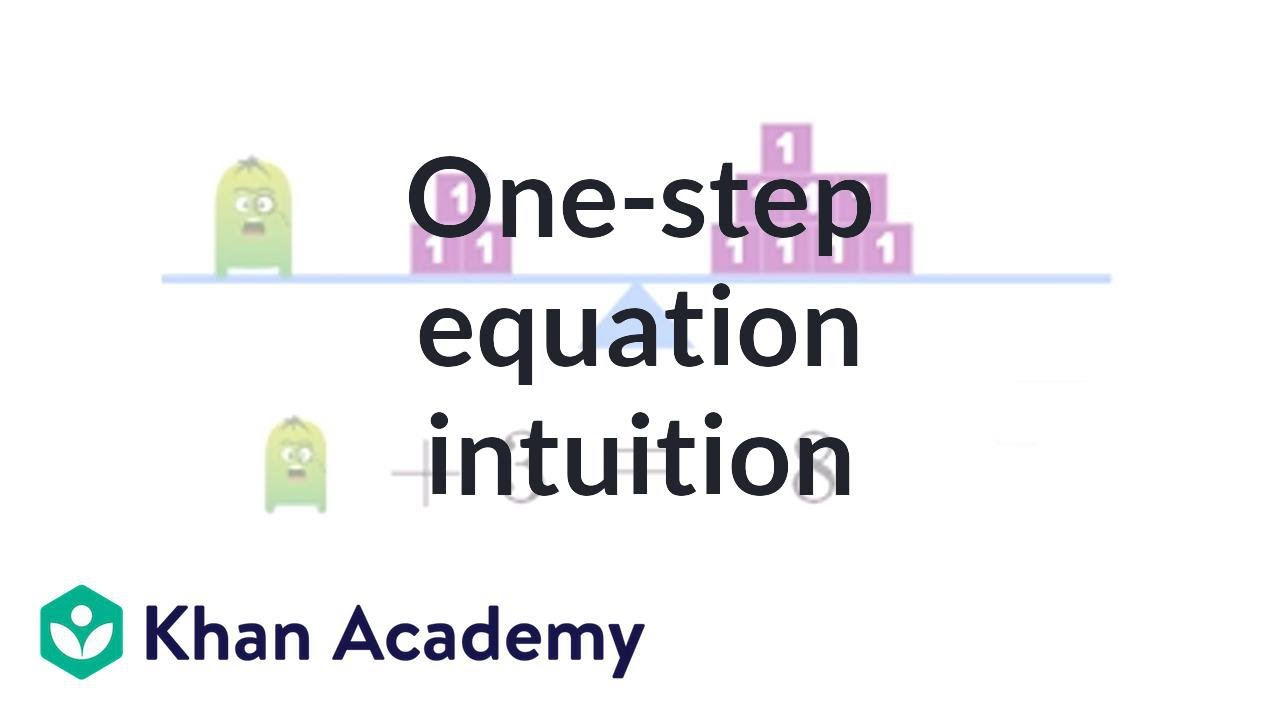 How to use the one-step equation intuition exercise | Linear ...