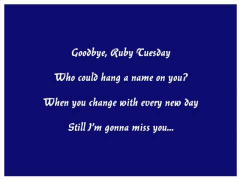 Rolling Stones Ruby Tuesday With Lyrics - Sung bu Larry Lillard.wmv