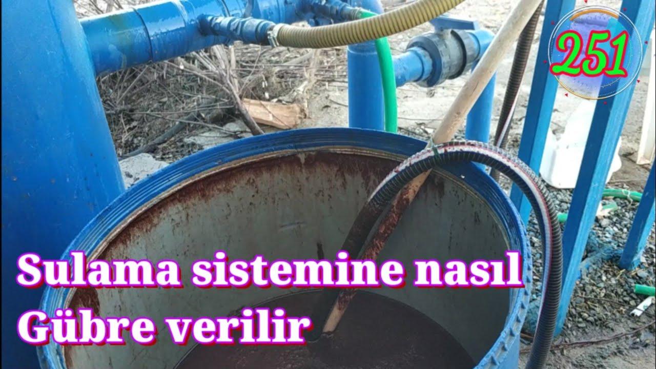 sulama sistemine gubre nasil verilir heleke koyu tarsus mersin