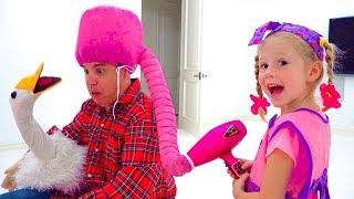 बच्चों के लिए ब्यूटी सैलून, स्टेसी के मेकअप और सुंदर खिलौने