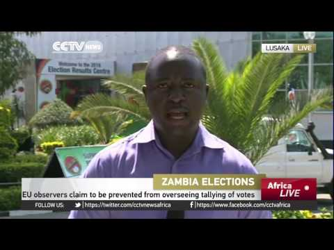 Authorities call for calm as Zambia election results continue to trickle in