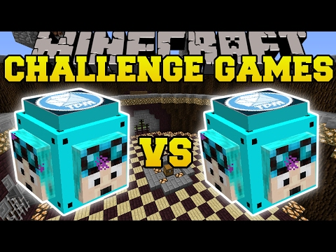 Minecraft: DANTDM VS THEDIAMONDMINECART CHALLENGE GAMES - Lucky Block Mod - Modded Mini-Game