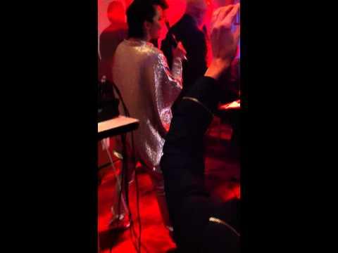 Björk doing karaoke in Reykjavik