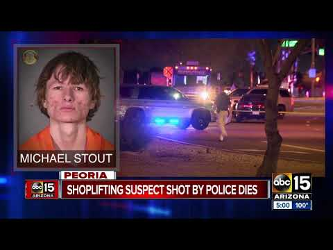 Suspect shot by Peoria police Monday night dies
