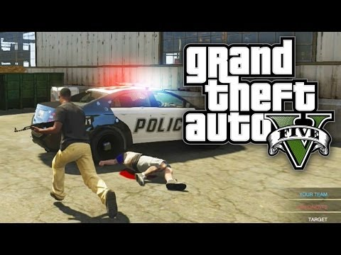 GTA 5 COPS VS ROBBERS! (Custom Game Mode - GTA V Online)