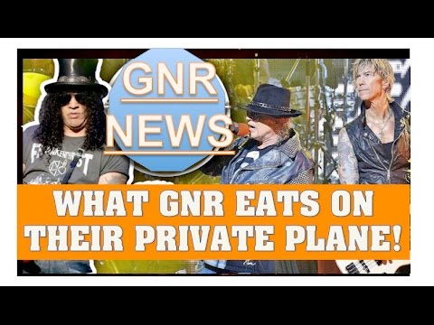 Guns N' Roses News:  What GNR Eats On Their Private Plane To Lima, Peru